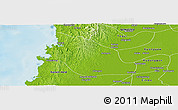 Physical Panoramic Map of Thabaung