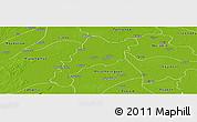 Physical Panoramic Map of Wakema