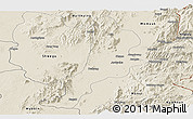 Shaded Relief Panoramic Map of Bhamo