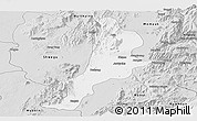 Silver Style Panoramic Map of Bhamo