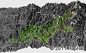 Satellite Panoramic Map of Chipwi, desaturated