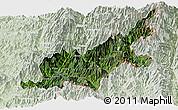 Satellite Panoramic Map of Chipwi, lighten