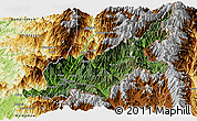 Satellite Panoramic Map of Chipwi, physical outside