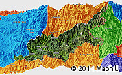 Satellite Panoramic Map of Chipwi, political outside