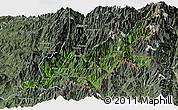 Satellite Panoramic Map of Chipwi, semi-desaturated