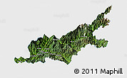 Satellite Panoramic Map of Chipwi, single color outside