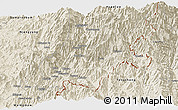 Shaded Relief Panoramic Map of Chipwi