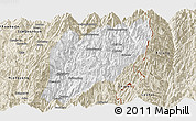 Classic Style Panoramic Map of Hsawlaw
