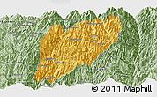 Savanna Style Panoramic Map of Hsawlaw