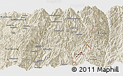 Shaded Relief Panoramic Map of Hsawlaw