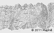 Silver Style Panoramic Map of Hsawlaw