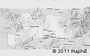 Silver Style Panoramic Map of Kamaing