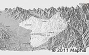 Gray Panoramic Map of Machanbaw