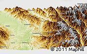Physical Panoramic Map of Machanbaw