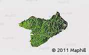 Satellite Panoramic Map of Machanbaw, cropped outside