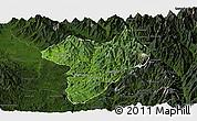 Satellite Panoramic Map of Machanbaw, darken