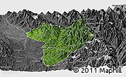Satellite Panoramic Map of Machanbaw, desaturated