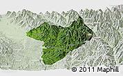 Satellite Panoramic Map of Machanbaw, lighten