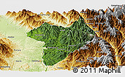 Satellite Panoramic Map of Machanbaw, physical outside