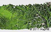 Satellite Panoramic Map of Machanbaw
