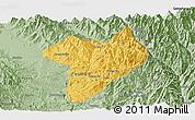 Savanna Style Panoramic Map of Machanbaw