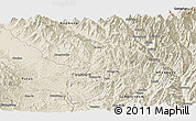 Shaded Relief Panoramic Map of Machanbaw