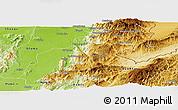 Physical Panoramic Map of Mansi