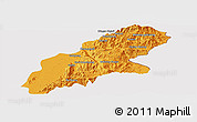 Political Panoramic Map of Mansi, cropped outside