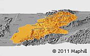 Political Panoramic Map of Mansi, desaturated