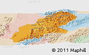 Political Panoramic Map of Mansi, lighten