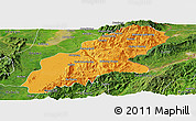 Political Panoramic Map of Mansi, satellite outside