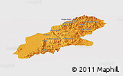Political Panoramic Map of Mansi, single color outside