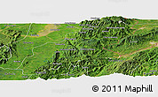 Satellite Panoramic Map of Mansi