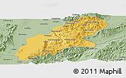 Savanna Style Panoramic Map of Mansi