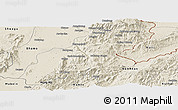 Shaded Relief Panoramic Map of Mansi