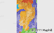 Political Shades Map of Kachin