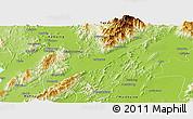 Physical Panoramic Map of Mogaung