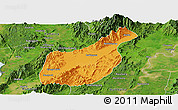 Political Panoramic Map of Mogaung, satellite outside
