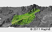 Satellite Panoramic Map of Mogaung, desaturated