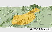 Savanna Style Panoramic Map of Mogaung