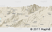 Shaded Relief Panoramic Map of Mogaung