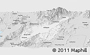 Silver Style Panoramic Map of Mogaung