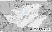 Gray Panoramic Map of Mohnyin