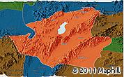 Political Panoramic Map of Mohnyin, darken