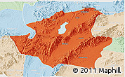 Political Panoramic Map of Mohnyin, lighten