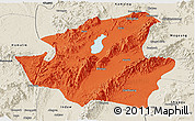 Political Panoramic Map of Mohnyin, shaded relief outside