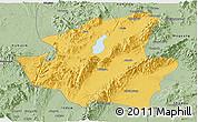 Savanna Style Panoramic Map of Mohnyin