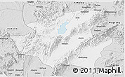 Silver Style Panoramic Map of Mohnyin