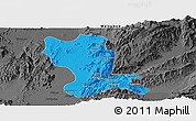 Political Panoramic Map of Momauk, darken, desaturated