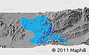 Political Panoramic Map of Momauk, desaturated